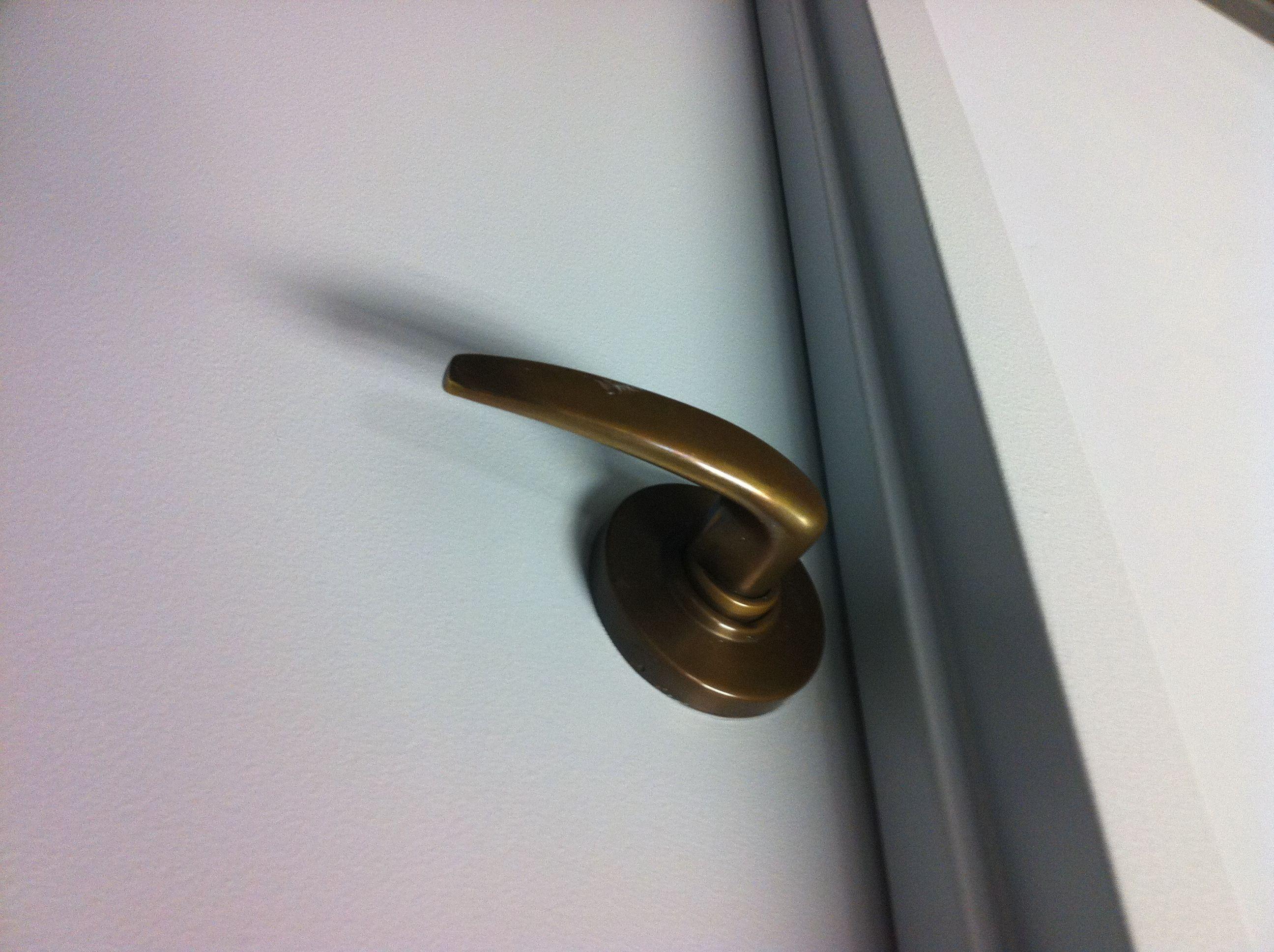 Door handles color tells the tale surplus words