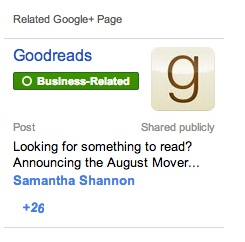 Related Google+ Page Widget